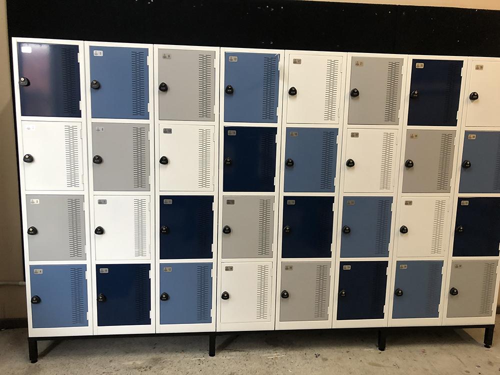 Four Tier Contemporary Lockers