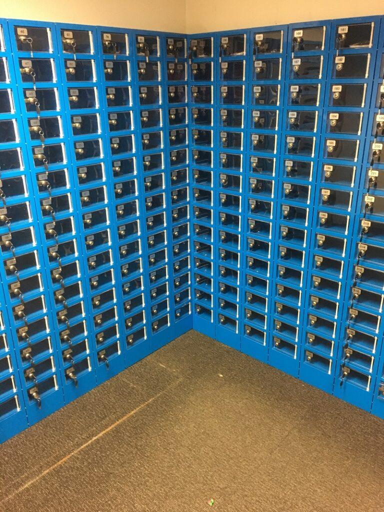 Mobile Phone Lockers with Perspex Doors