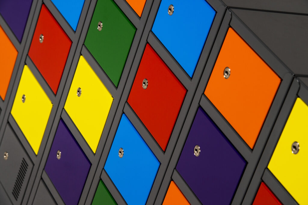 Mini Lockers with Multi Coloured Doors