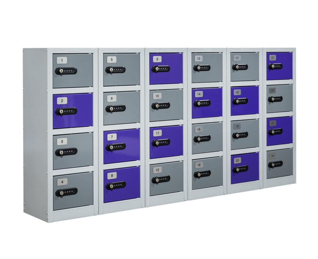 Mini Lockers with Combination Locks