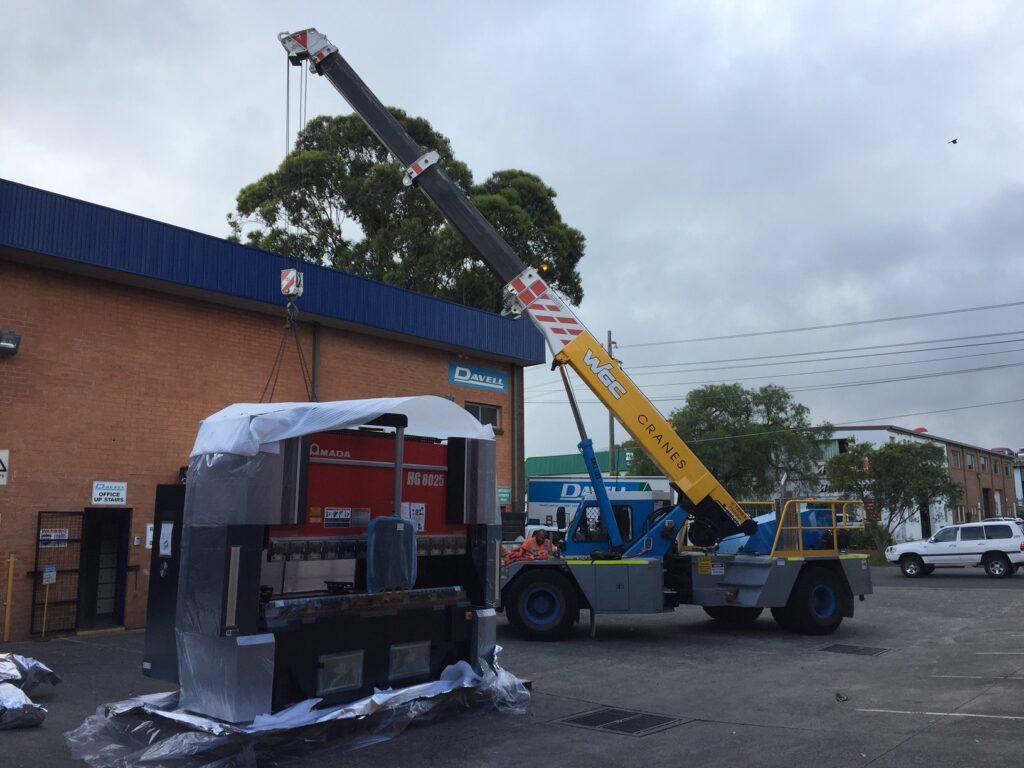 New Press Brake being delivered