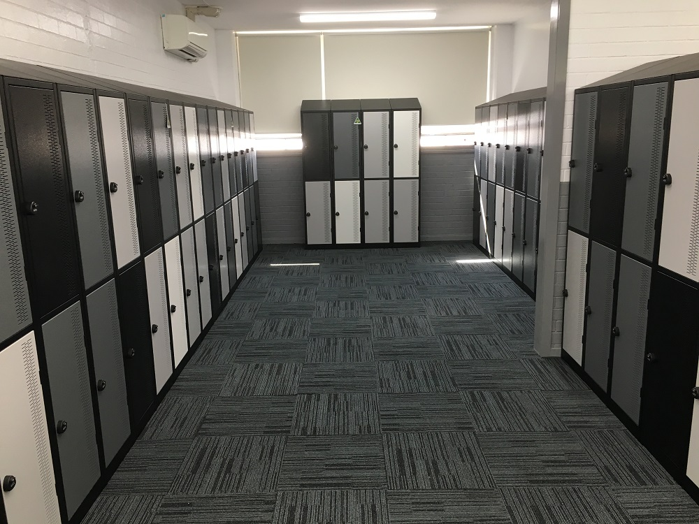 Two Tier Sloping Top Contemporary Lockers